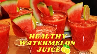 How to make healthy watermelon juice with 2 ingredients easy drink at home