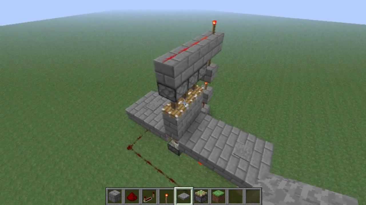 & Minecraft Tutorial - 3x2 Piston Door - YouTube Pezcame.Com