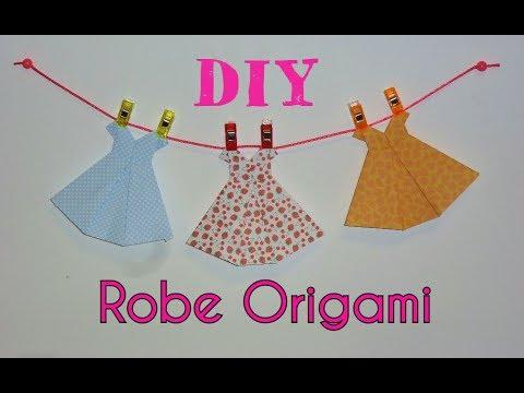 Diy robe origami tutoriel facile youtube - Robe en origami ...