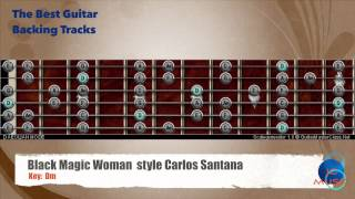 Black Magic Woman Santana Guitar Backing Track with scale map