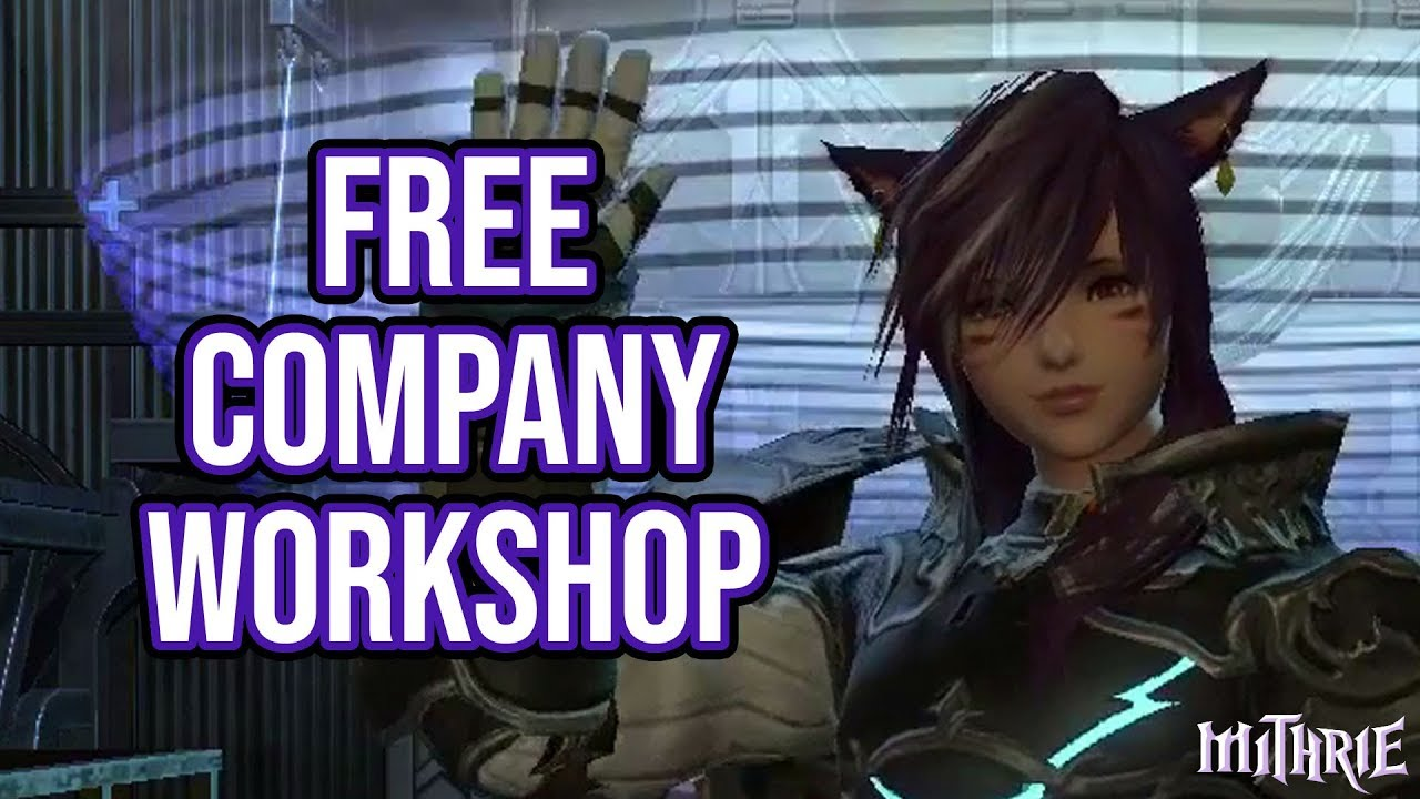 FFXIV Guide for Free Company Workshop and Company Crafting