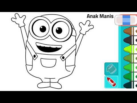 Belajar Mewarnai Tokoh Kartun Minion Youtube