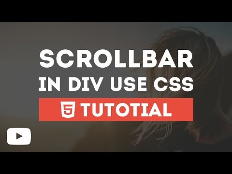 ScrollBar In Div Just By Using CSS