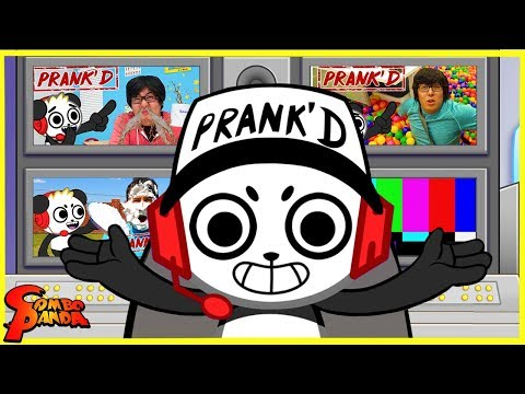 BEST PRANKS ON RYAN'S PARENTS & THE STUDIO SPACE! Prank'd With Combo Panda