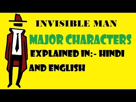 invisible man major characters