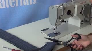 Zigzag decorative stitch sewing machine for leather