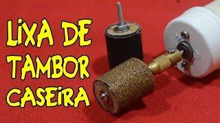Como fazer lixa de tambor para micro retífica!