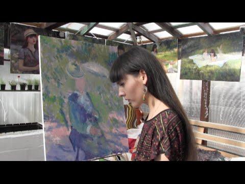 Копия картины Ренуара, импрессионизм, художник Фания Сахарова