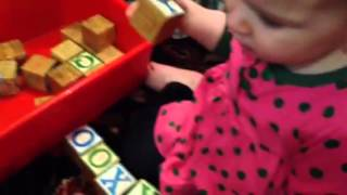 18-month-old baby knows her ABCs