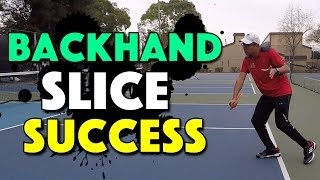 Backhand Slice Success | How To Hit A Great Pickleball Backhand Slice