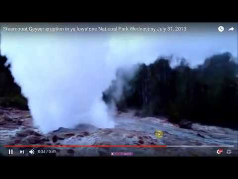 Rare Geyser Goes Off At Yellowstone