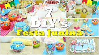 """DIY""""s: festa Junina 7 Ideias fáceis para fazer nas festas caipiras ft. Nina Braz e Gi Guedes"""