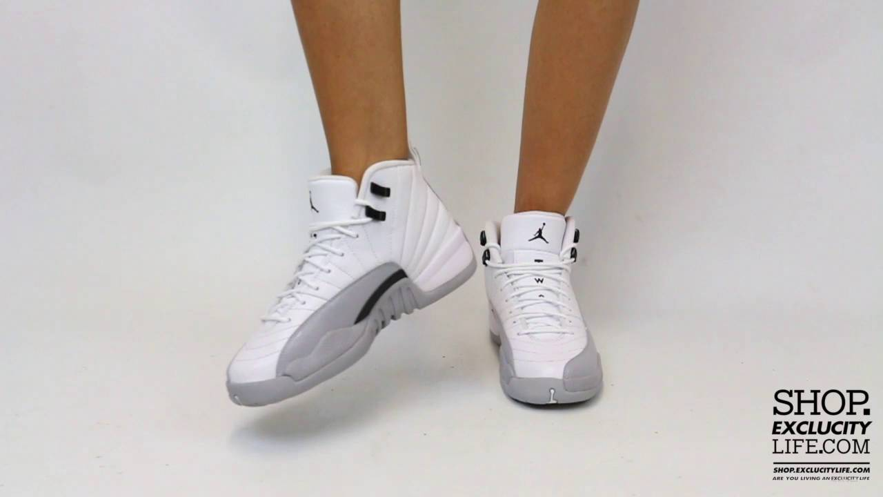 save off 71ab4 461f0 ... italy womens bg air jordan 12 retro wolf grey video at exclucity 3ecad  64c1a