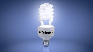 Modelling and texturing a 3D CFL in cinema 4D tutorials Part- 3