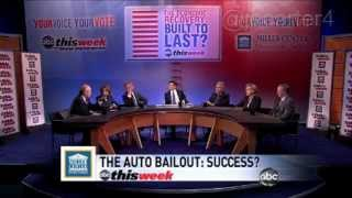 ABC This Week - Heated Panel Discussion of the Auto Bailout