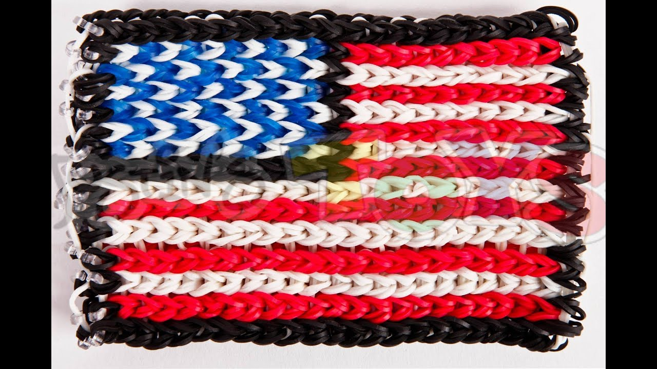 How to Make a Rainbow Loom Flag, Blanket, Picture from a 2D Image ...