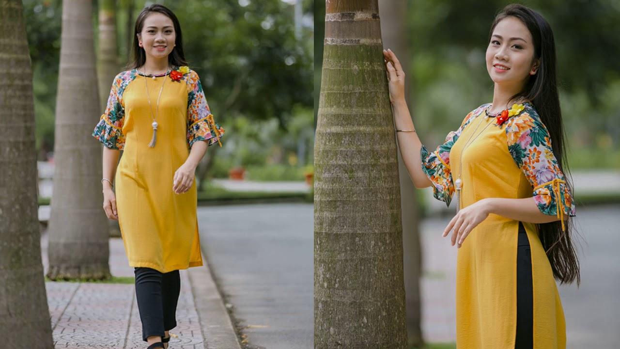 Những mẫu áo dài cách tân năm 2020 bạn nên mặc của An Thủy