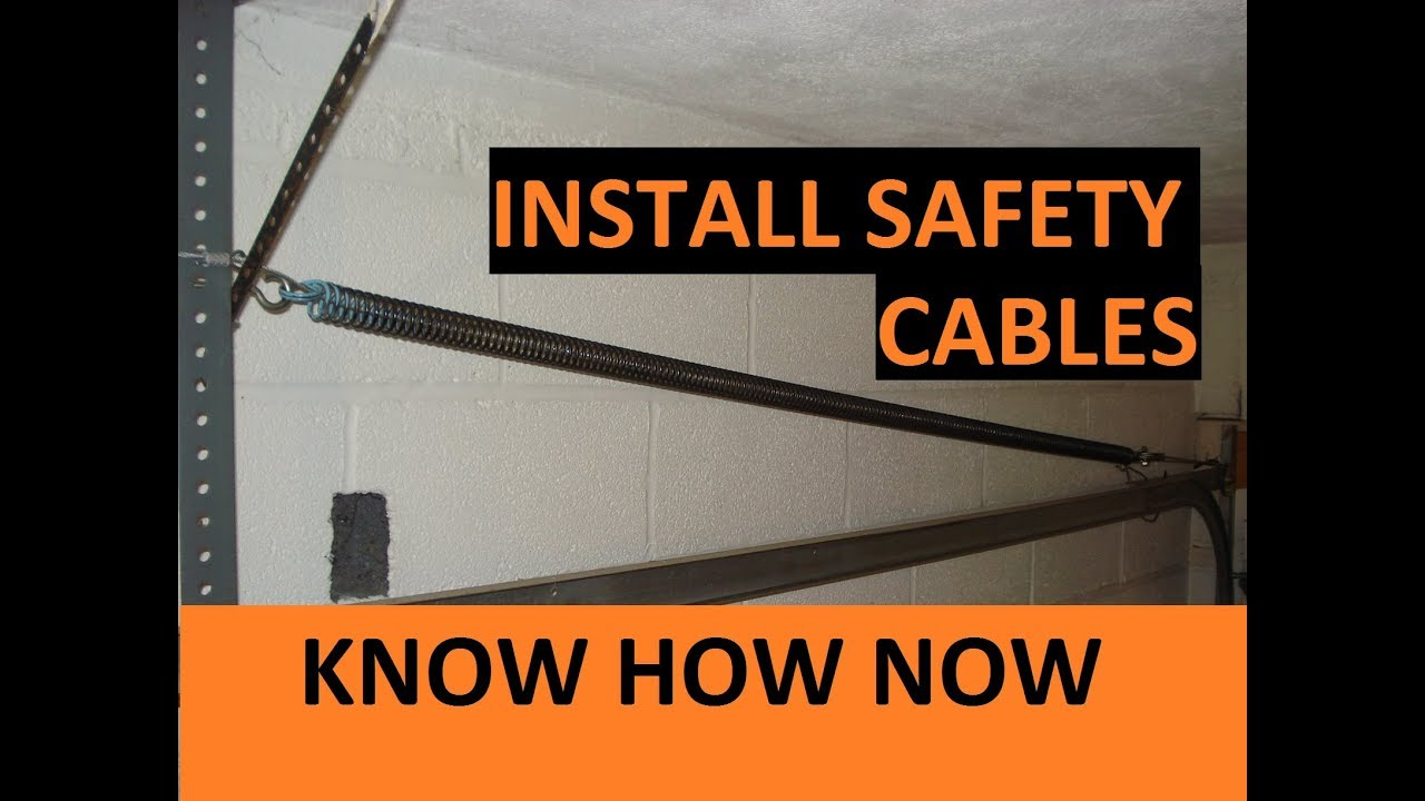 How To Install A Garage Door Safety Cable Youtube