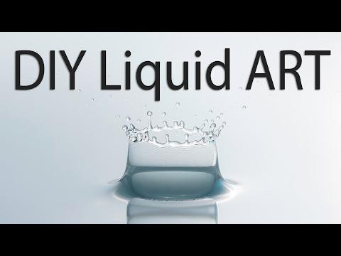 Low Budget (Easy) DIY Water Drop Photography - Liquid ART