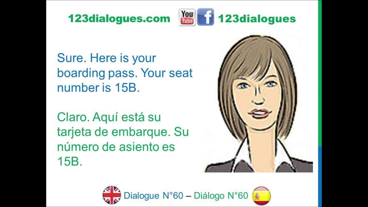 Dialogue 60 Inglés Spanish Airport Check In Luggage Registro Aeropuerto Equipaje