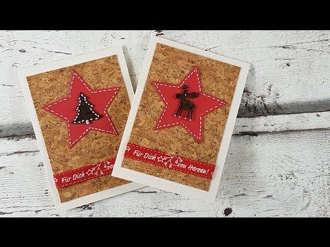 Edle Weihnachtskarten Basteln.Sternen Weihnachtskarte Selber Basteln Diy Cardmaking Tutorial In