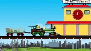 Бесплатные игры онлайн  Гонки на поездах, паравозик игра, гонки, игра для мальчиков онлайн
