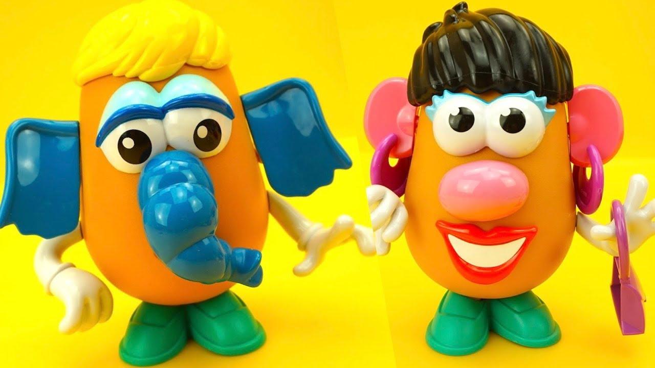 Мистер Картошка мультик с игрушками