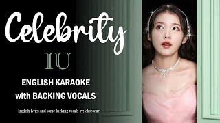 IU - CELEBRITY - ENGLISH KARAOKE with BACKING VOCALS