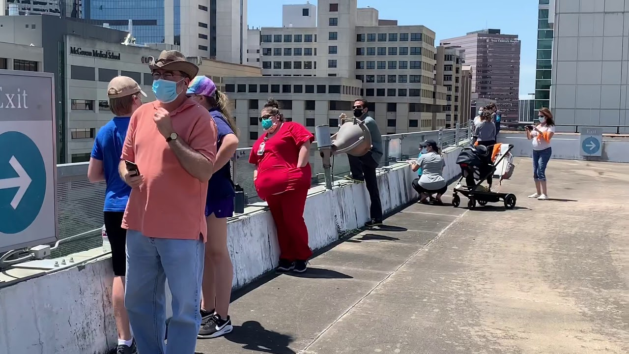 Blue Angels Flyover for Health Care Workers