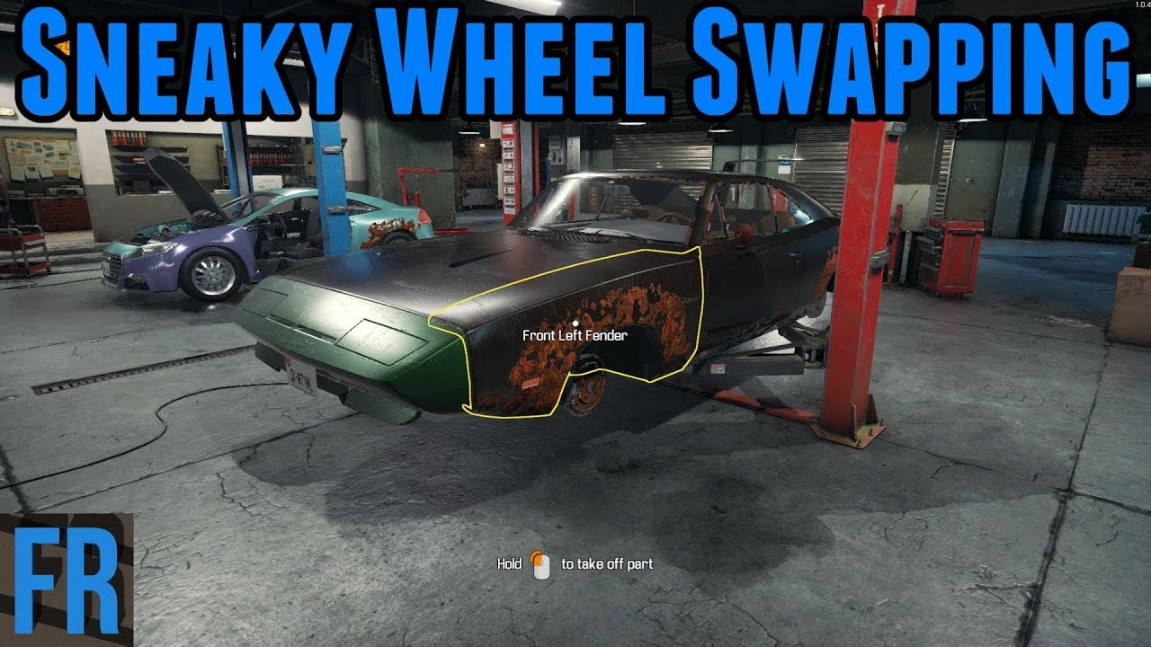 Car Mechanic Simulator 2018 - Sneaky Wheel Swapping