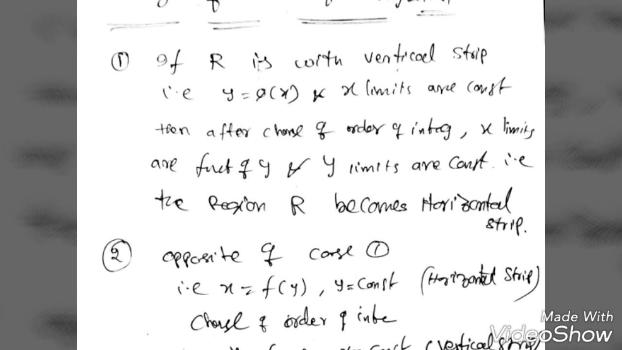 short notes on multiple integrals and vector calculus