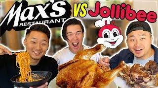 MAX'S vs JOLLIBEE: WHATS THE BEST FILIPINO FRIED CHICKEN? | Fung Bros