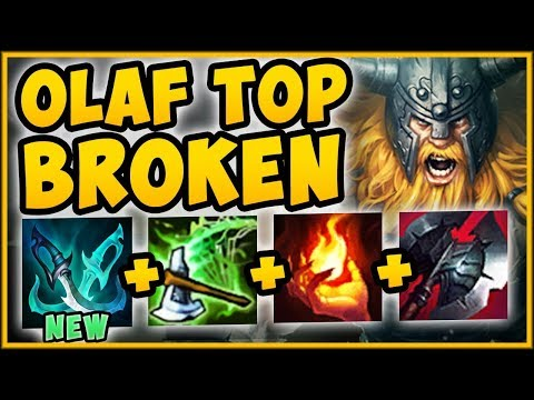 WTF RIOT! NEW PHANTOM DANCER MAKES OLAF TOP 100% UNBEATABLE! OLAF TOP GAMEPLAY! - League of Legends