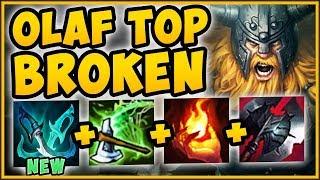 WTF RIOT! NEW PHANTOM DANCER MAKES OLAF TOP 100% UNBEATABLE! OLAF TOP GAMEPLAY! - League of Legends