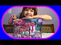 Shopkins arcade set with bumper cars bowling alley and slide mp3