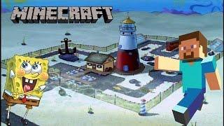 Minecraft Build Tutorial - Spongebob: Mrs Puff's Boating School - Pt 1 Lighthouse