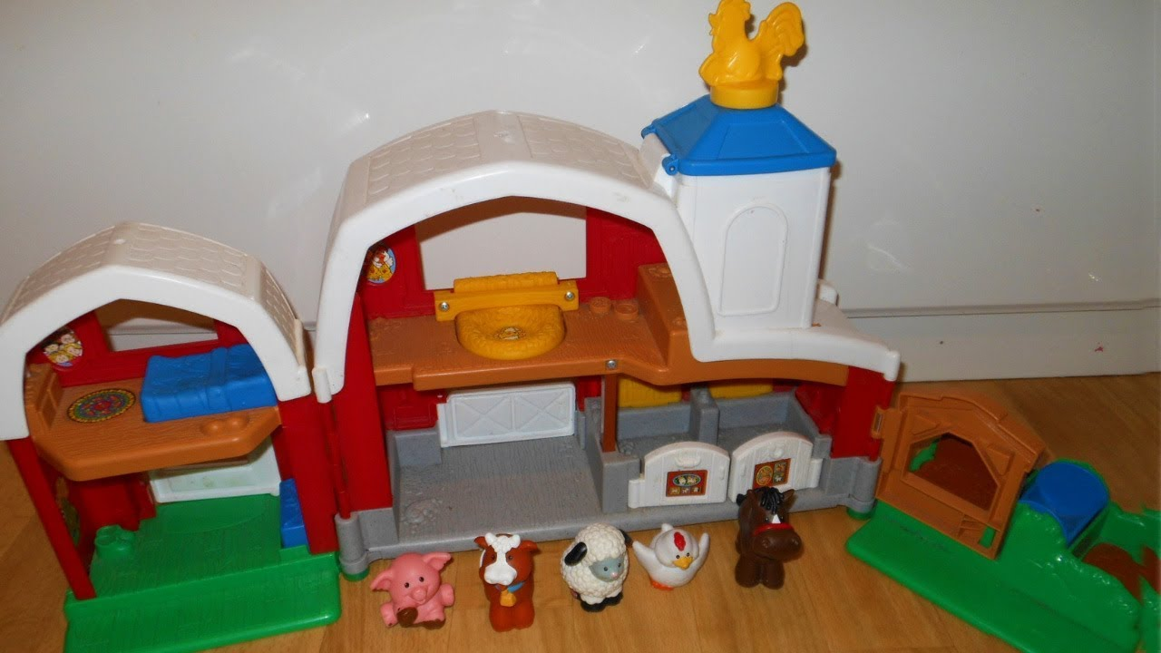 Fisher Price Little People Animal Sounds Farm Barn Toy Review Youtube