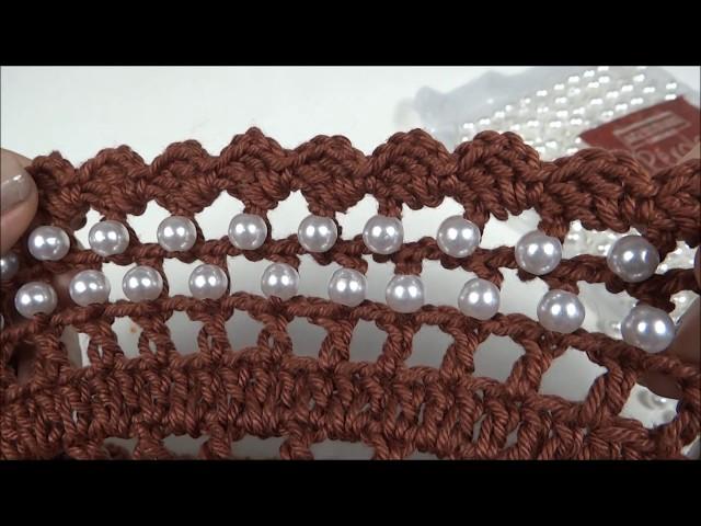 Como colocar pérolas no Crochê