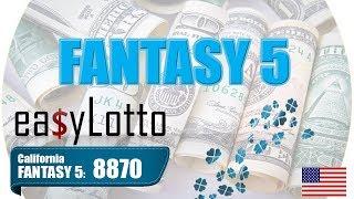 Fantasy 5 winning numbers Feb 18 2018