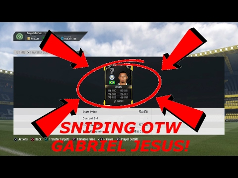 FIFA 17 - Sniping *NEW* OTW CARDS (GABRIEL JESUS) - New OTW Cards in FIFA 17!