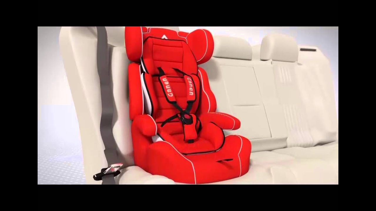 Ganen Baby Car Seat Series E, for 9 months to 12 years old - YouTube