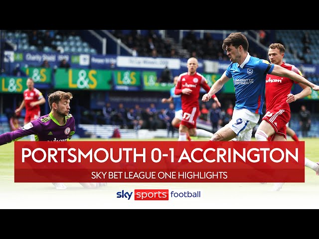 Portsmouth fail to reach the League One play-offs | Portsmouth 0-1 Accrington | EFL Highlights