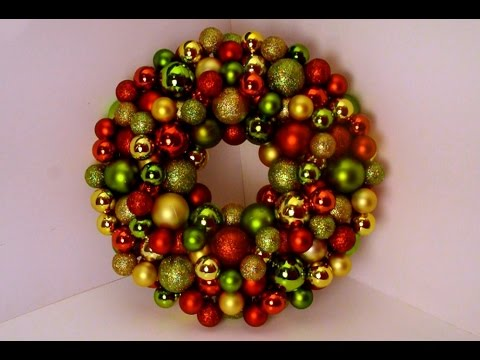 Diy bauble ornament wreath youtube diy bauble ornament wreath solutioingenieria Images