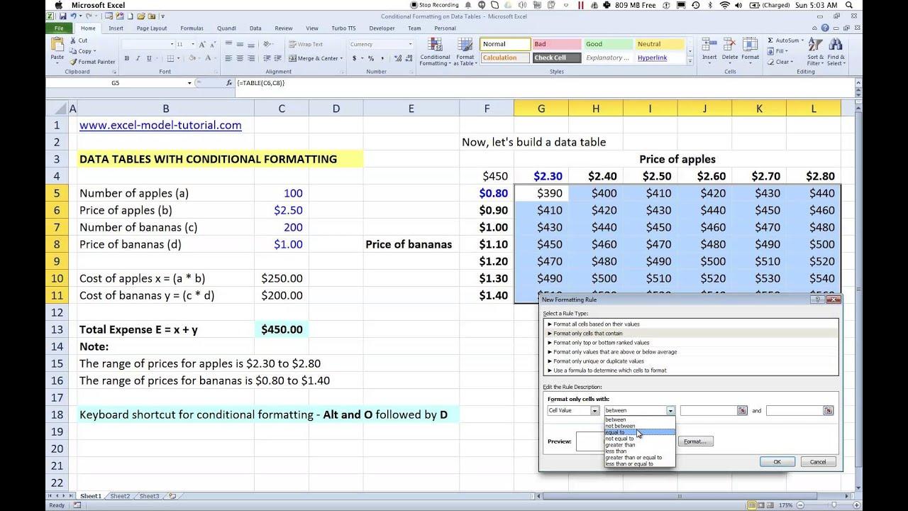 Conditional Formatting Vba Excel