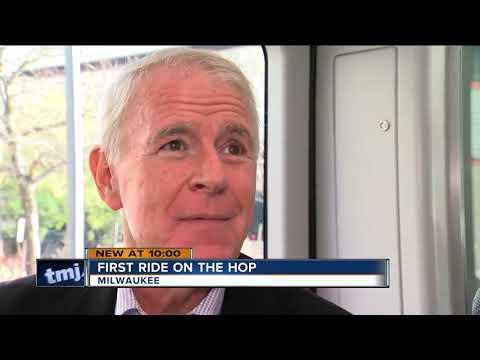 Mayor Tom Barrett Takes First Ride On The Milwaukee Hop