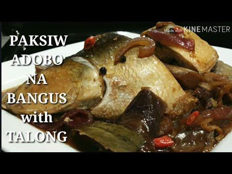 COOKING 101 : PAKSIW ADOBO NA BANGUS ( MILK FISH ) W/ LONG JAPANESE EGGPLANTS / FILIPINO DELICACY...
