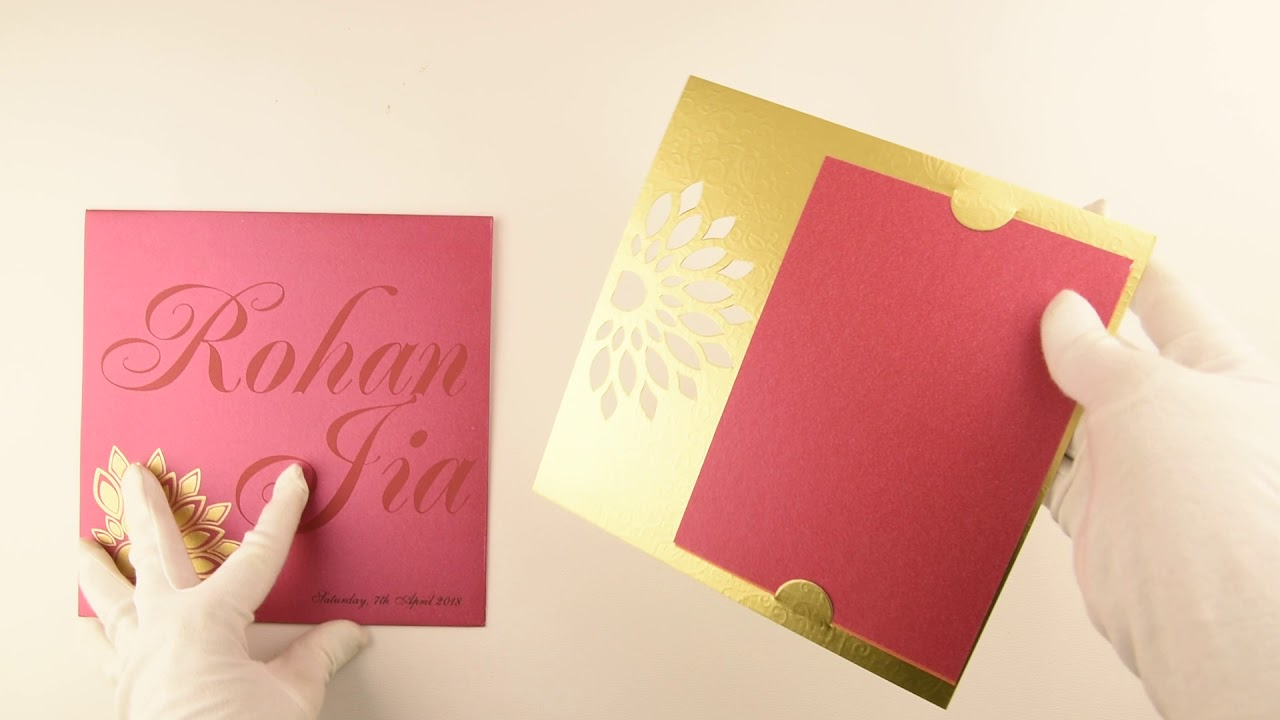 IWPC770, Pink Color, Designer Multifaith Invitations, Wedding ...