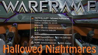 Warframe - Hallowed Nightmares Tactical Alert