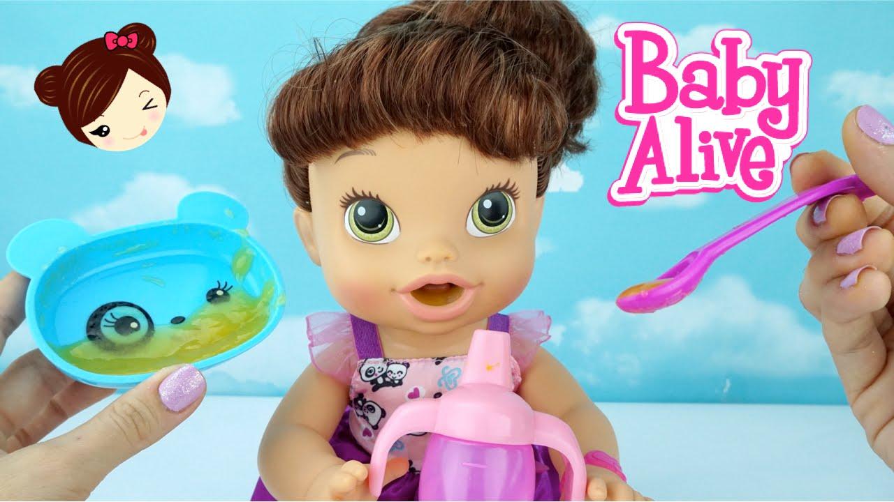 Bebe Alive Come Papilla Hace Pipi Y Popo En Pa 241 Al Baby