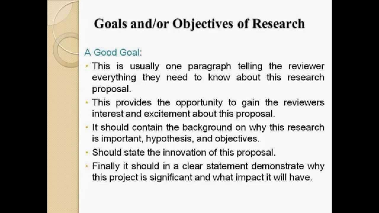Proposal writing services effective research
